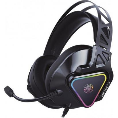 Gaming Ακουστικά ZEROGROUND RGB HD-3000G AKECHI PRO